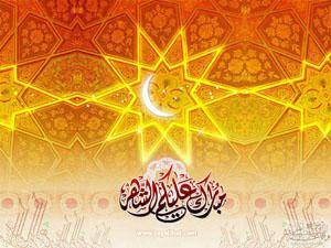 خلفية رمضانية ، مبارك عليكم الشهر الكريم