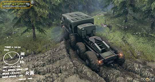 لعبة Spintires قيادة الشاحنة ونقل البضائع