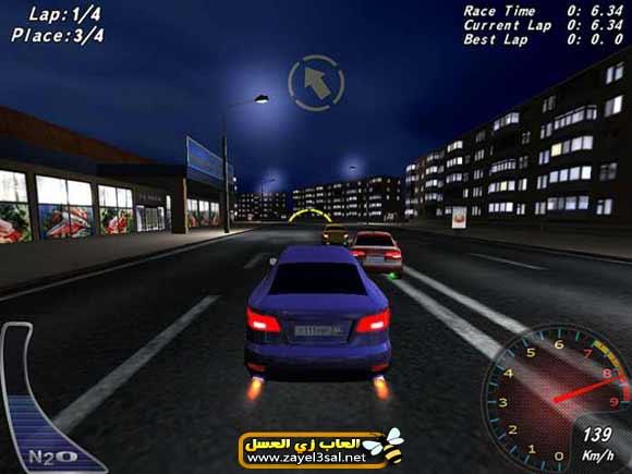Free Download Night Street Racing - Free 3D Racing Game For PC / لعبة سيارات خفيفة