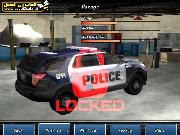 لعبة سباق سيارات الشرطة المجنونة Crazy Police Racers كاملة