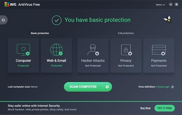 برنامج مكافحة الفيروسات AVG AntiVirus FREE 2021