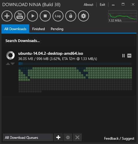 برنامج إدارة التنزيلات من الانترنت Ninja Download Manager Free نينجا داونلود مانجر