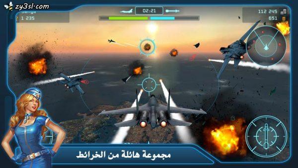 محاكاة حرب طائرات حقيقية