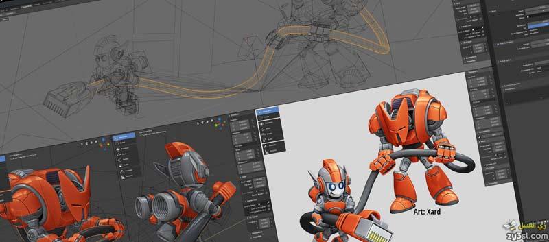 برنامج بلندر Blender 2020 للرسوم المتحركة والتصميم ثلاثي الأبعاد كامل