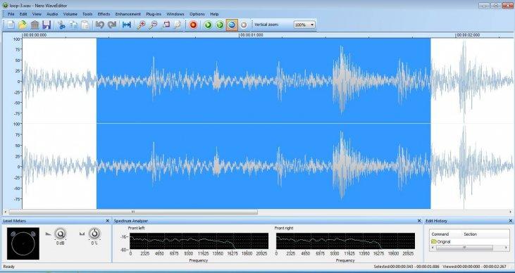 تحميل برنامج نيرو لتعديل الصوت Nero WaveEditor احدث اصدار