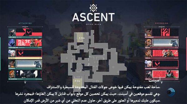 خريطة أسينت - ASCENT