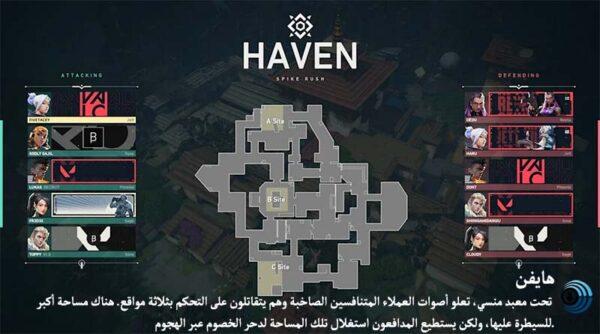 خريطة هايفن - HAVEN
