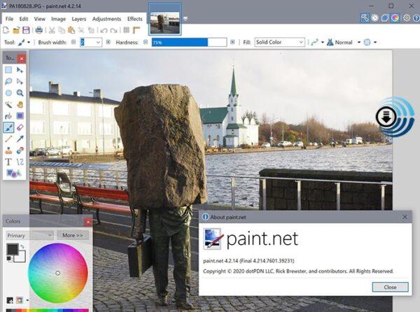 Paint.NET لإضافة التأثيرات